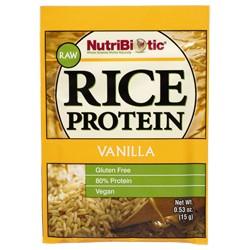 Rice Protein, Vanilla .53 oz. Single Serving Packet