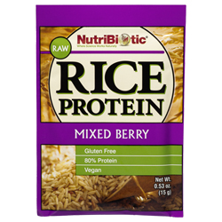 Rice Protein, Mixed Berry .53 oz. Single Serving Packet