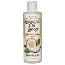Pure Coconut Oil Soap, Unscented 8 oz.