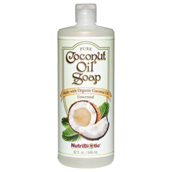 Pure Coconut Oil Soap, Unscented 32 oz.