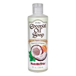 Pure Coconut Oil Soap, Peppermint & Bergamot 8 oz.