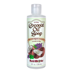 Pure Coconut Oil Soap, Lavender & Mint 8 oz.
