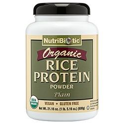 Organic Rice Protein, Plain 21 oz.