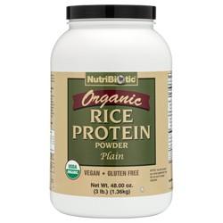 Organic Rice Protein, Plain 3 lb.