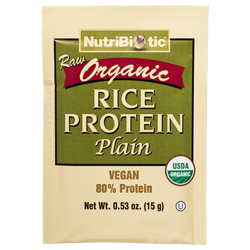 Organic Rice Protein, Plain .53 oz. Single Serving Packet
