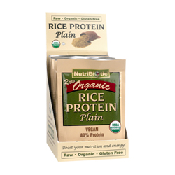 Organic Rice Protein, Plain .53 oz. pkts., 12/box