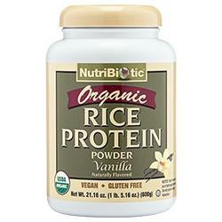 Organic Rice Protein, Vanilla 21 oz.