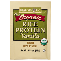 Organic Rice Protein, Vanilla .53 oz. Single Serving Packet