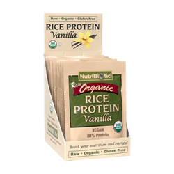 Organic Rice Protein, Vanilla .53 oz. pkts., 12/box