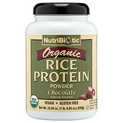 Organic Rice Protein, Chocolate 22.9 oz.