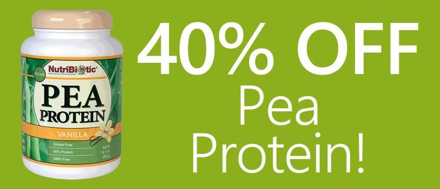40% Off Pea Protein!